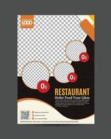 Flyer Restaurant Vector template