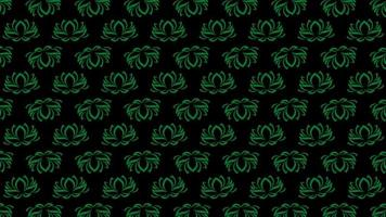 Abstract green and luxury floral pattern on retro background video