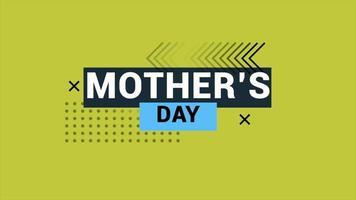 texte d'animation fête des mères sur fond de mode et de minimalisme jaune avec motif géométrique video