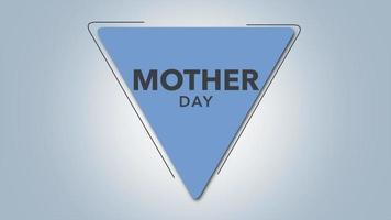 texte d'animation fête des mères sur fond blanc mode et minimalisme avec triangle géométrique bleu video