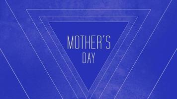 texte d'animation fête des mères sur fond bleu mode et minimalisme avec triangles géométriques video