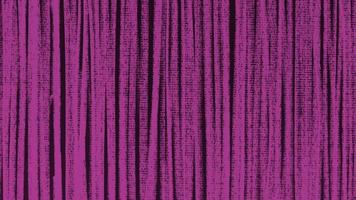 Motion abstract geometric pink lines on black textile background video