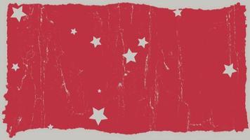 beweging grunge witte sterren en ruis op abstracte rode achtergrond video