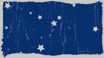 beweging grunge witte sterren en ruis op abstracte blauwe achtergrond video