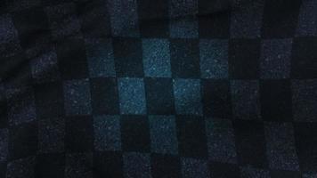 Fórmula de movimiento banderas negras y azules sobre fondo deportivo retro video