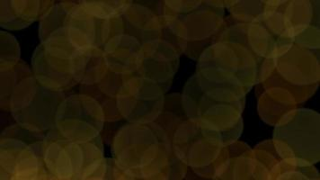 Fly gold abstract bokeh and particles on shiny background video