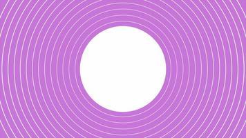 Motion abstract geometric purple vertigo and spiral lines on retro background video