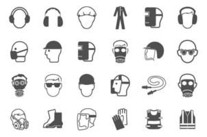 Required Personal Protective Equipment PPE Symbol Safety Icon vector