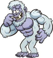 Cartoon Yeti monster vector