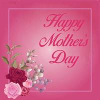 Happy mothers day poster card vector