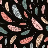 las plumas son un patrón sin costuras. patrón boho con plumas. ilustración vectorial vector