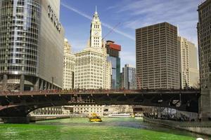 Chicago, Illinois, Mar 17, 2017 - Bridge on the Chicago Riverwalk photo