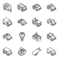 transporte y viajes vector