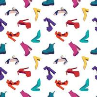 Women's Shoes Seamless Pattern vector