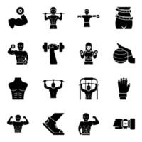 Workout  and Equipment's vector