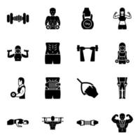 Gym Equipment and Exercise vector