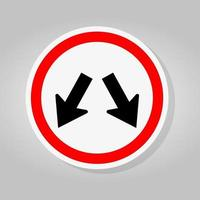 Keep Left Or Keep Right Traffic Road Sign vector