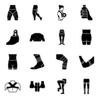 Pack off Knee Pads vector