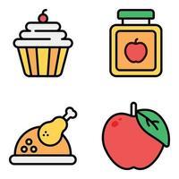 Trendy Food Flat vector