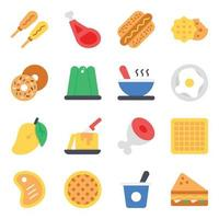 Baked Items Flat vector