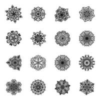 Flower Designs Linear vector