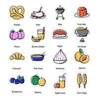 Healthy Diet Doodle vector