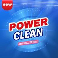 diseño de plantilla de vector de embalaje de detergente