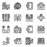 Online Navigation Glyph vector