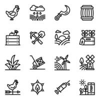 Windmills and Gardening Tools vector