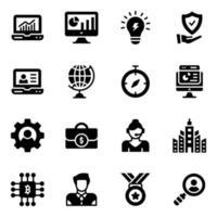 Online Analytics Glyph vector