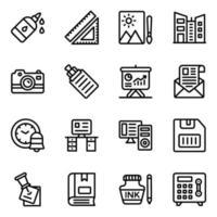 suministros de oficina y lugar de trabajo vector