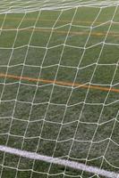 Cerrar campo de fútbol con red foto