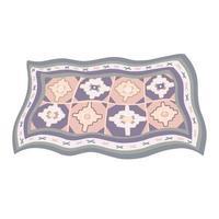 alfombra armenia con un patrón tradicional vector