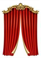 Frame postcard cover gold baroque rococo curtain vector