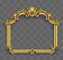 Gold classic frame of the rococo baroque vector