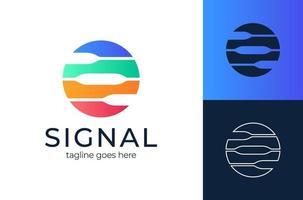 círculo único logo. señal circular para el concepto de diseño de logotipo, muy adecuado para diversos fines comerciales, también para icono, símbolo y muchos más. vector