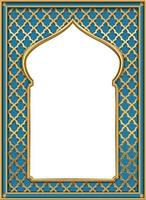 Golden classic arch portal vector