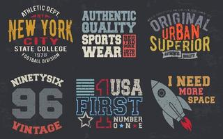 Vintage design print for t-shirt stamp, tee applique, fashion typography, badge, label clothing, jeans, and casual wear. Vector illustration