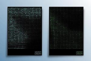 Abstract matrix effect design for background, wallpaper, flyer, poster, brochure cover, typography, or other printing products. Vector illustration