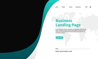Corporate business landing page template vector