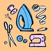 sewing set pictures vector