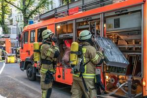 bomberos del departamento de bomberos de berlín foto