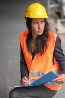 aprendiz de trabajador de la construcción foto