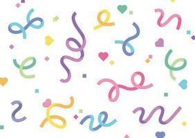Celebration ribbons are blowing everywhere. Simple pattern design template. vector