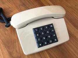 telefono vintage aislado foto