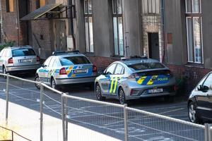 Cars of the police of the Czech Republic photo