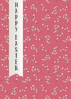 tarjeta de felicitación de pascua feliz. tarjeta de invitación con patrón de sauce. ilustración vectorial plana vector