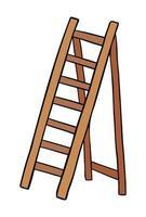 Ilustración de vector de dibujos animados de escalera de madera.