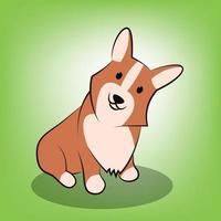 Cute Cartoon Vector Illustration of a corgi dog
