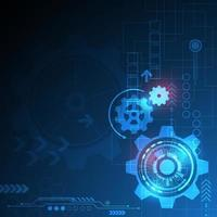 Technology background with a mechanical concept vector